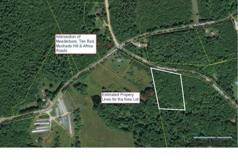 Map 1 - Lot 29- Meaderboro Road Alton NH 03809