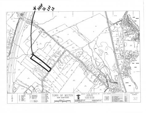 Map 32 Lot 0012 Ford Hill Milton NH 03851